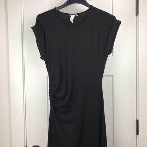H&M black short sleeve maxi dress